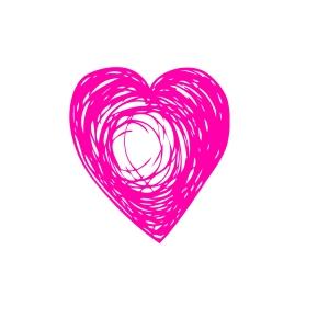 hot pink heart